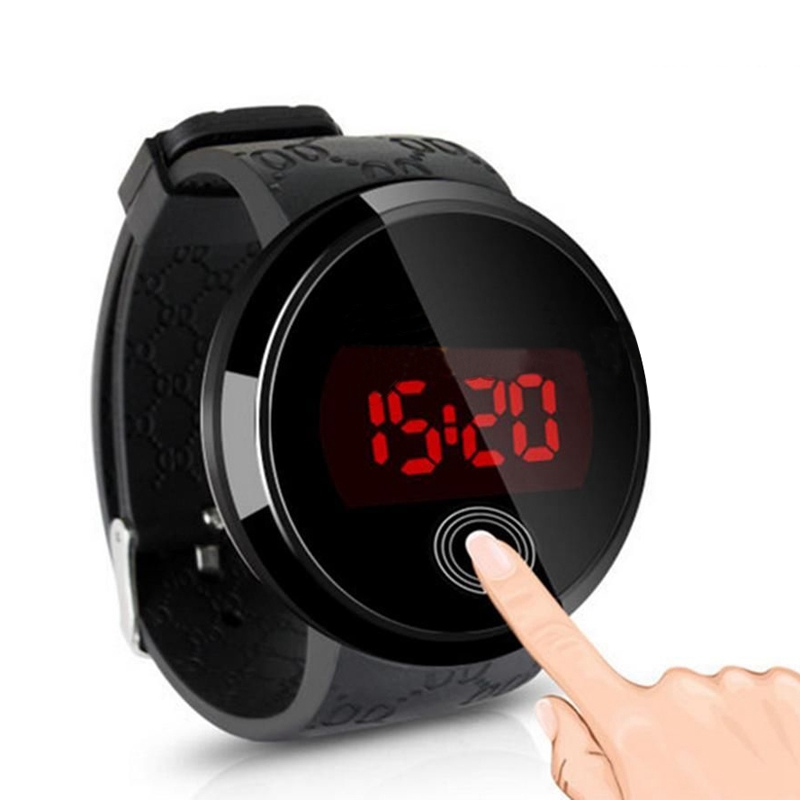 New 2016 Men's Watch Silicone Strap Touch Screen LED Digital Watch Men Sports Watch Display Time Date(China (Mainland))