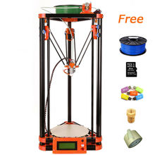 LCD display diy 3d printer kit, High Precision delta 3d printer