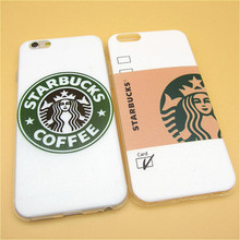 Fashion Starbuck Coffee TPU Slim Phone Cases Skin for Apple iPhone 6 6s 4.7 inch Ultra Thin Soft Back Covers Shell