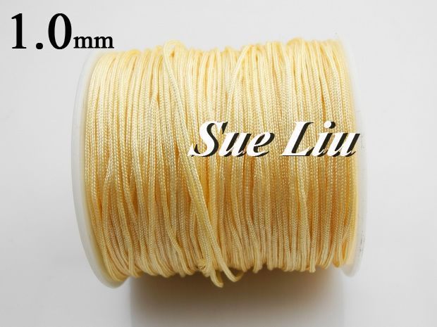 1mm Beige Chinese Knot Beading 100% Nylon Cord NCN10 - 100yds/spool(China (Mainland))