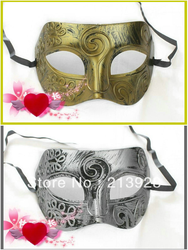 20pcs/lot Hot men's fashion antique masks Casual gatherings mask Halloween Gift 2 colors to choose from Free shipping(China (Mainland))