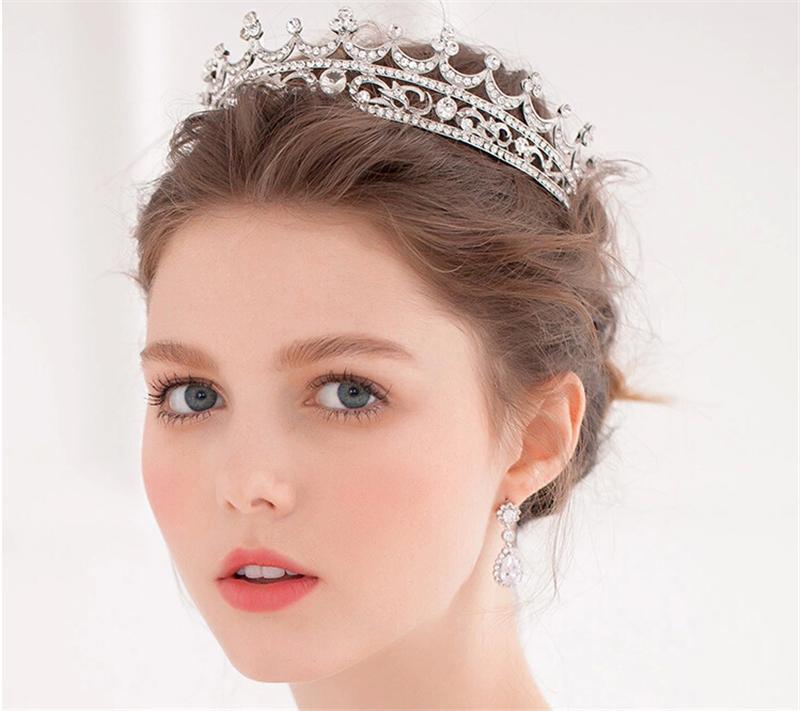 New 2013 Bridal Rhinestones Crystal Tiara Crown Hair Accessories For Wedding Bride Quinceanera ...
