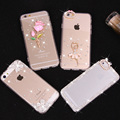 Soft TPU Back Cover DIY Handmade Rhinestone Bling Diamond Crystal Accessories Case For iphone 4 4s