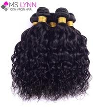 7A Peruvian Virgin Hair Natural Wave 4 Bundles Ms Lynn Hair Products Peruvian Hair Wet And Wavy Human Hair Weave Peruvian Curly(China (Mainland))