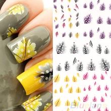 2016 1 Sheet  New fashion creative Feather 3D Nail Art Water Decal Sticker Fashion Tips Decoration 01RI 2O6H 8LMK