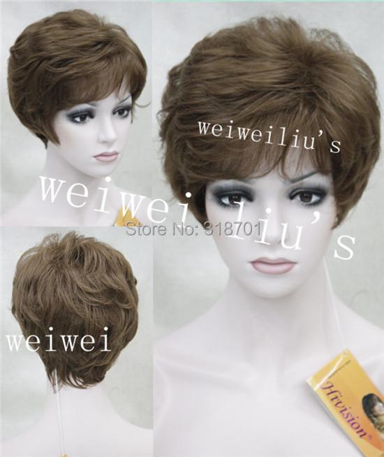 Wig Women Fashion short Curly Full Hair Fluffy Hair Wigs free shipping<br><br>Aliexpress