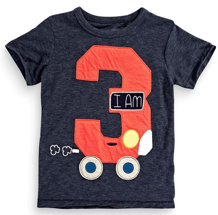 2016 New Fashion Baby font b Boys b font T Shirt No 3 Pattern Children font