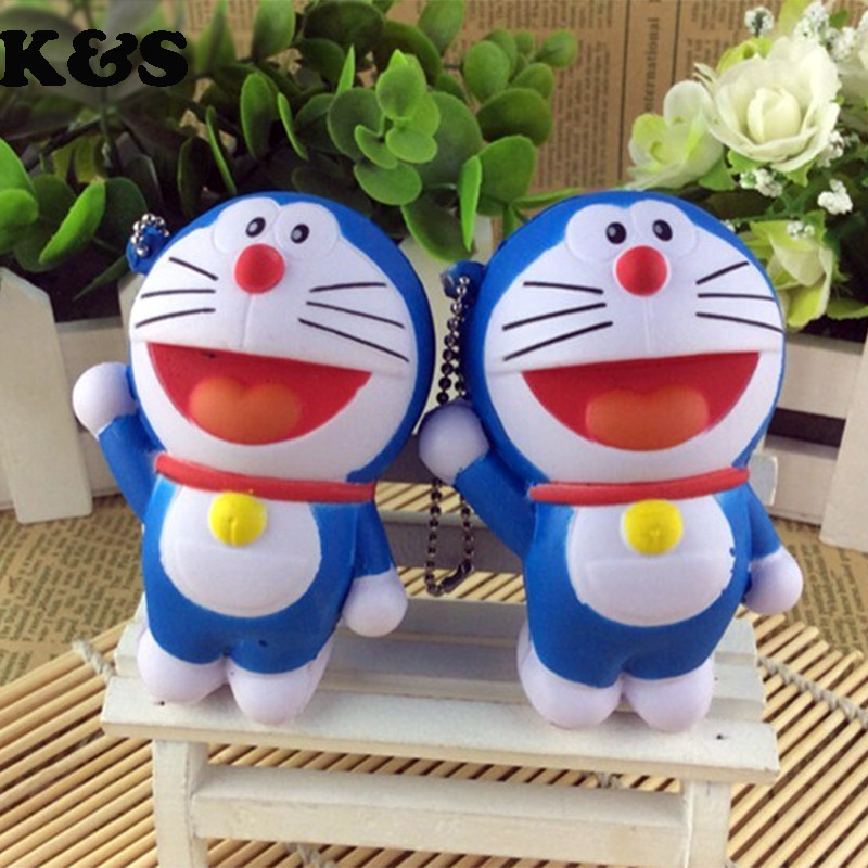 wholesale doraemon squishy kid toys new rare Cartoon squishies cell phone bag charm straps for car baby girls Christmas gift