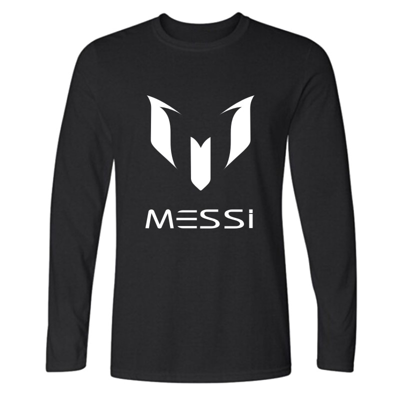 2016 brand 100% cotton Barcelona MESSI Men t-shirt tops Man casual long sleeve t shirts Plus Size XS-XXL(China (Mainland))