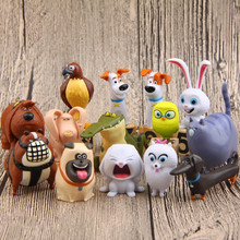 The Secret Life Of Pets Movie Action Figure Toy, 14pcs/lot Snowball Gidget Mel Max Duke Dog Cat Rabbit Figure, Anime Brinquedos(China (Mainland))