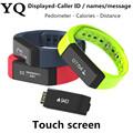 YQ i5 plus Bluetooth 4 0 Waterproof Touch Screen Fitness Tracker Health Smart Bracelet Wristband Sleep