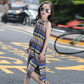 2016 Girls Summer Beach Dress students Clothes Robe Fille Enfant 6 16 Years Old Kid Dresses