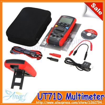 Новый UNI-Т UT71D интеллектуальный цифровой Вольт Ампер Ом измеритель емкости термометр