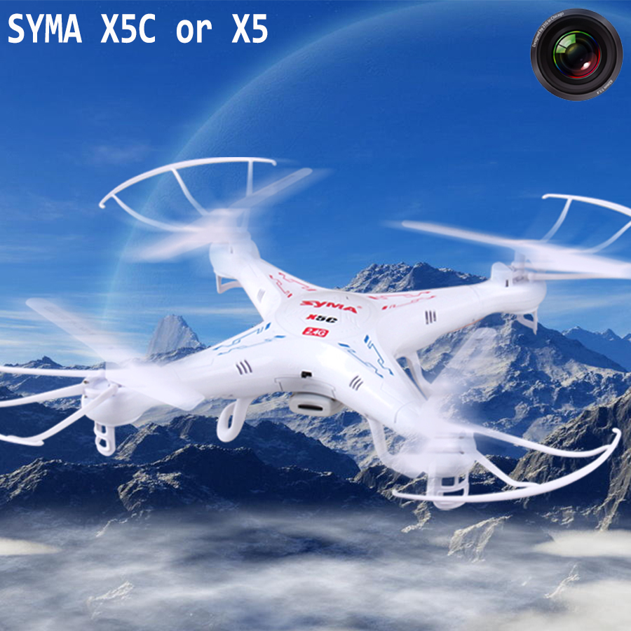 SYMA X5C-1 Upgrade X5C 2.4G 4CH 6-Axis RC Helicopter with 2MP HD Camera Remote Control Toys Quadrocopter Drone(China (Mainland))