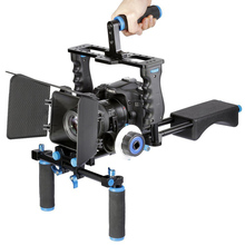 Buy DSLR Video Stabilizer Shoulder Mount Rig+Matte Box+Follow Focus+Cage Canon 5D Mark III 5D2 60D 70D 7D 6D DSLR Camera for $147.40 in AliExpress store