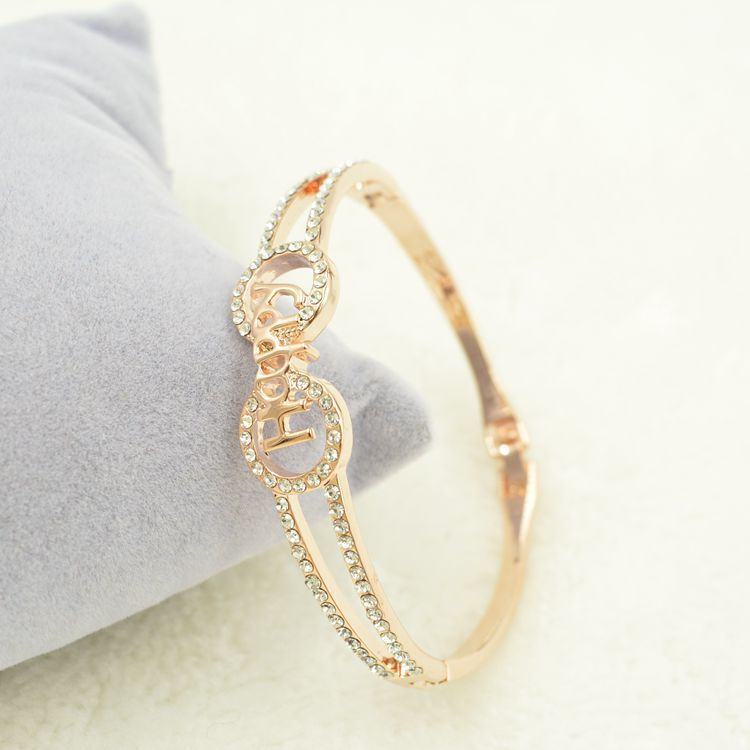 Korean version of the 18K happy ROSE GOLD BRACELET LADIES long high-end jewelry wholesale agent color(China (Mainland))