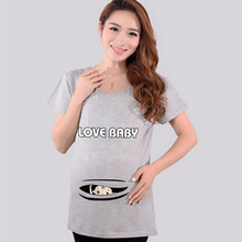 Fashion Pregnant Maternity T Shirts Casual Pregnancy Clothes For Pregnant Women Clothing Gravida Cotton Vestidos Summer 2015(China (Mainland))