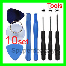 10set (80pcs) 8 in 1 REPAIR PRY KIT OPENING TOOLS With 5 Point Star Pentalobe Torx Screwdriver For APPLE IPHONE iphone4 4G