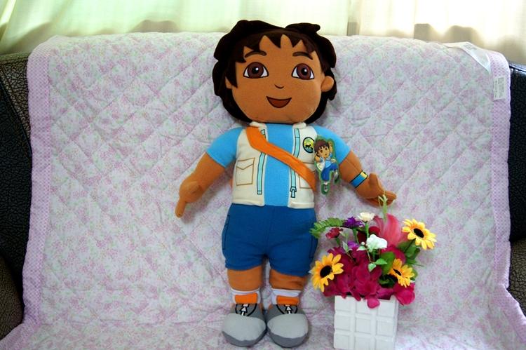 2015 Hot Sale Diego Dora the Explorer 63CM Baby Tv Anime Plush Dolls Diego Plush Backpack Soft Toys 63CM Handsome Boy Diego(China (Mainland))