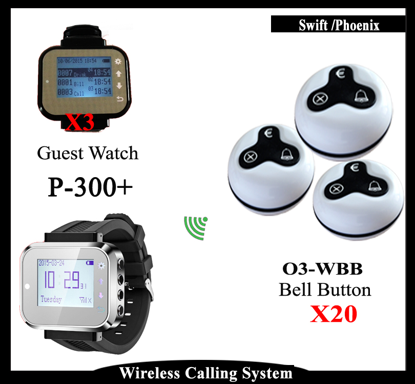 Vibrating Restaurant Pagers,Wireless pagers Call System for Restaurant Equipment With Wrist Watch And Table Call Bell(China (Mainland))