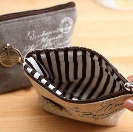 New Mini Cute Women Coin Purses Cheap Casual Sackcloth Coin Bags For Women Fashion Women Bags(China (Mainland))