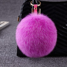 2017 Besty Real Fox Fur Ball Bags Pendant genuine leather plush accessories fur ball hat hangings(China (Mainland))
