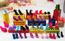 10 pairs shoes!!!hot sell Handmade Party Doll's shoes For Barbies best gift for baby many kind Randomly send