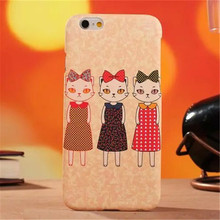 Cute Cat PC Phone Case for IPhone 6 6S phone case 4.7″ Dirt-resistant Water/Dirt/Shock Proof Anti-knock Mobile Phone Cases
