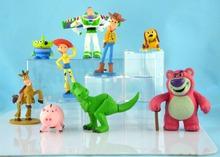 9 шт./компл. 7 — 8 см история игрушек 3 вуди базз лайтер джесси пвх фигурку игрушки куклы детские игрушки