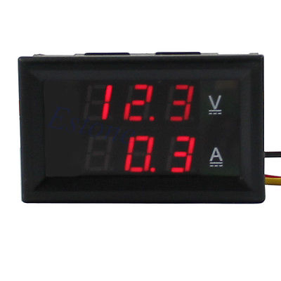 G104Free Shipping New DC 4.5-30V 0-50A Red LED Digital Volt Meter Ammeter Voltage AMP Power(China (Mainland))