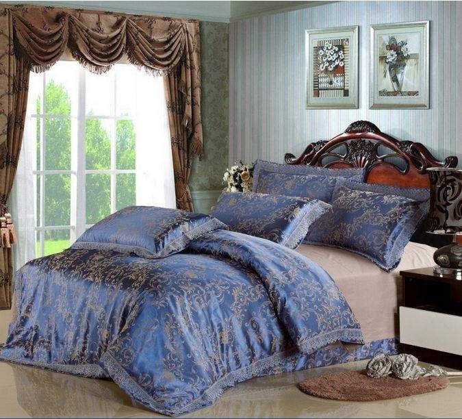 turquoise bedding set luxury hot sale comforter bedding sets king size jacquard bed cover bed. Black Bedroom Furniture Sets. Home Design Ideas
