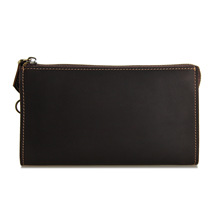 Sell like hot cakes High – grade Wallet Purse Leather Hand Bag Retro Long Wallet