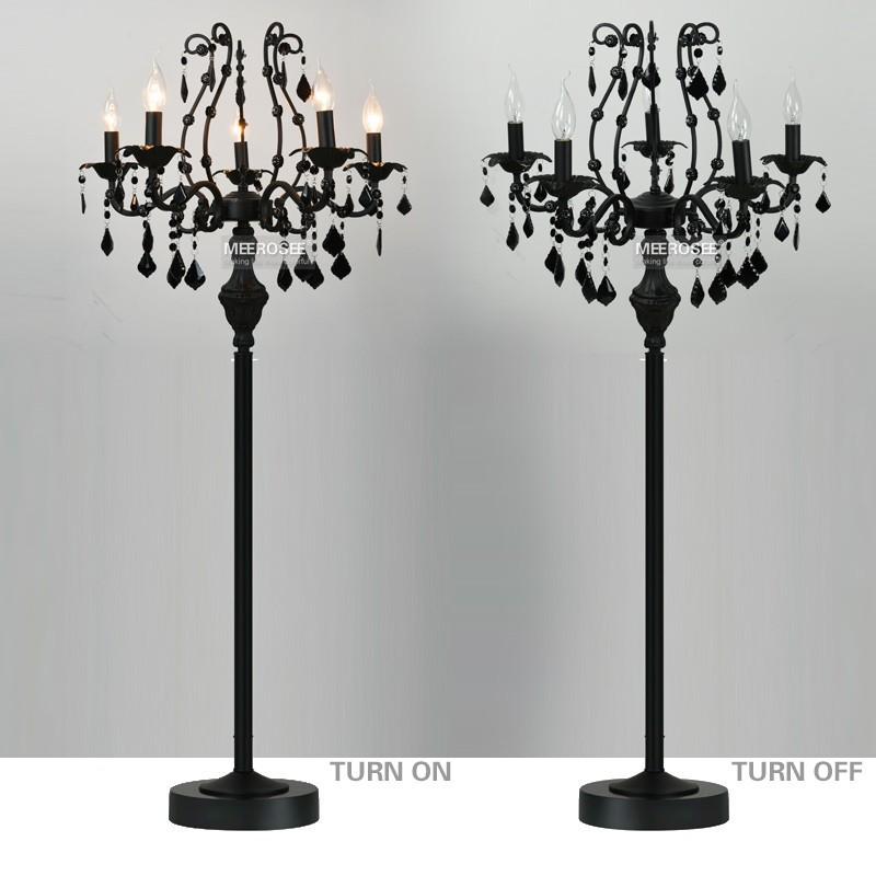Wholesale vintage 5 lights crystal floor lamp floor stand light tl2520 9 aloadofball Gallery