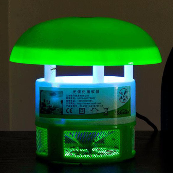 No Radiation Home LED Anti Pest Bug Mosquito Fly Killer Efficient Photocatalyst Electronic Mosquito Repellent Catcher Trap Lamp(China (Mainland))