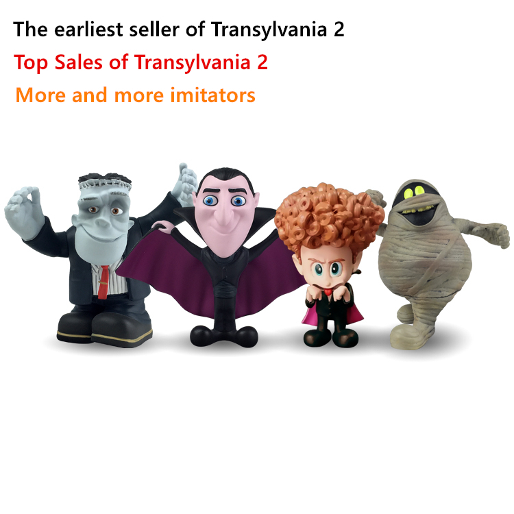 Hotel 4pcs set transylvania 2 cartoon movie doll key chain for Hotel transylvania 2 decorations