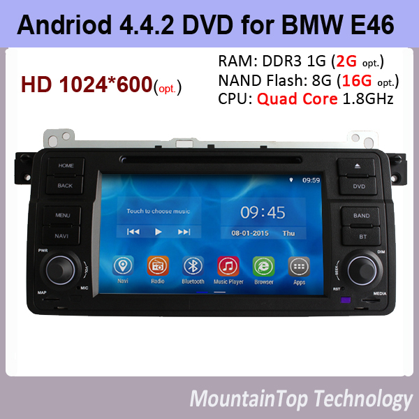 Автомобильный DVD плеер MountainTop 7 4.4.2 DVD Navi BMW M3 E46 A9 1,6 PC GPS OBD2 Wifi