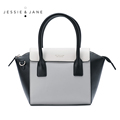 JESSIE JANE Designer Brand New Style Women Leather Bag Fashion Trapeze Bags Top Handle Bag Satchel