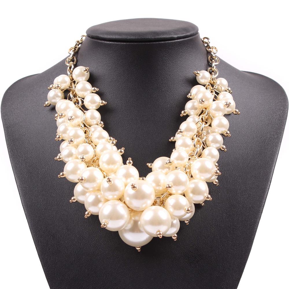 2016 fashion new cheap gold chain bib big chunky statement
