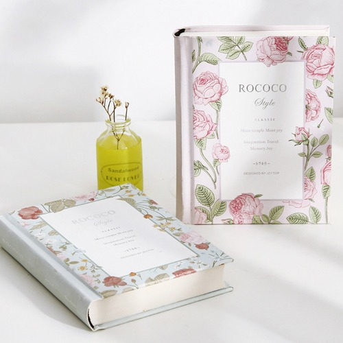 "Гаджет  ""Miss Rococo"" Travel Diary Hard Cover Flower Blank Planner Luxury Journal School Study Notebook Agenda Notepad Memo Gift None Офисные и Школьные принадлежности"