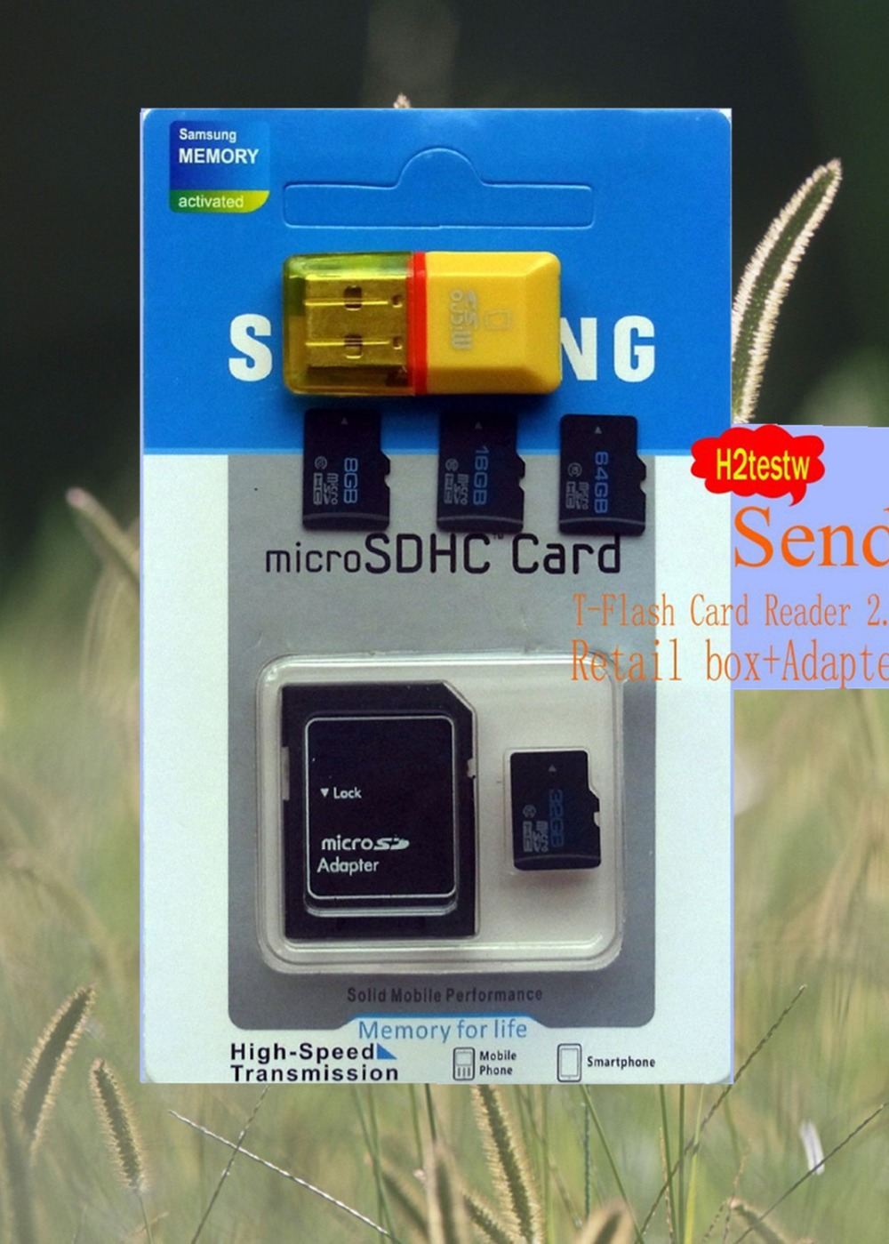 10/lot Micro SD card Class10 4GB 8GB 16GB 32GB 64GB TF card Memory Card cell phone card adapter+reader blister kits for samsung(China (Mainland))
