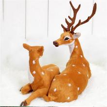 Couple Natal decoration Christmas items Reindeer Cloth elk House Christmas sika deer small medium Sika Stand(China (Mainland))