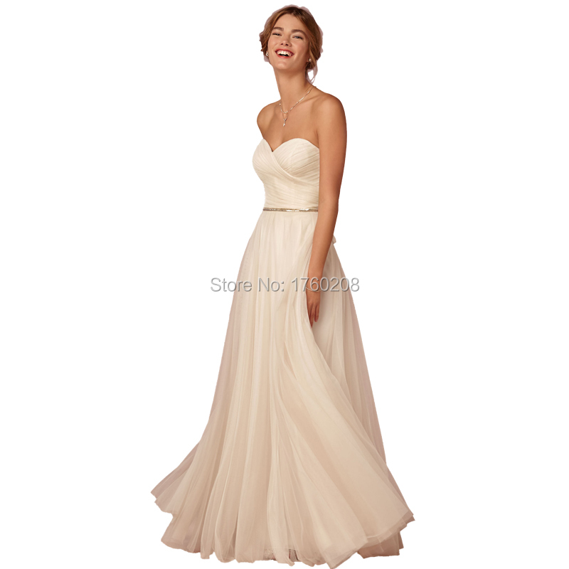 Cheap simple wedding dresses sweetheart a line tulle for Tulle a line wedding dress