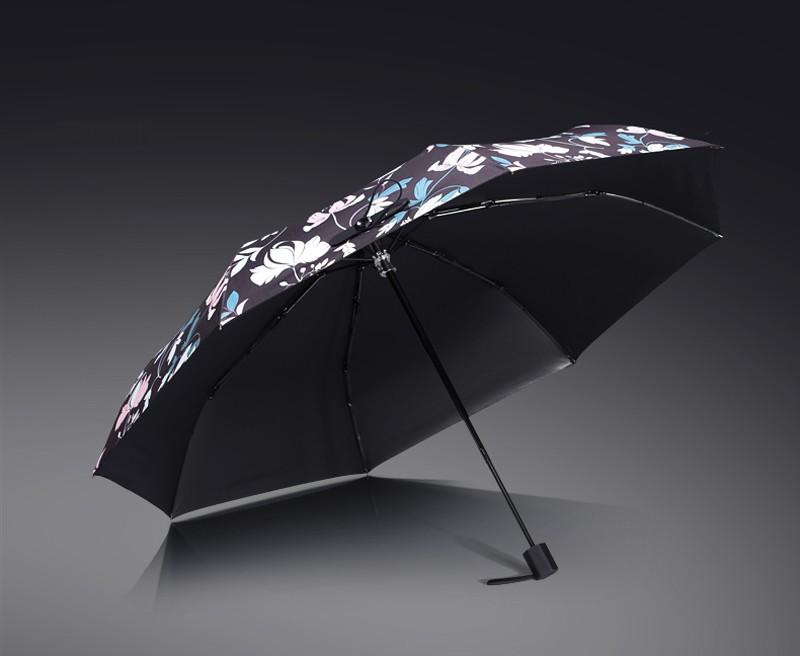 High Quality Black Coating Anti UV Sun Umbrella Sunny and Rainy Dual-use  Male Women Umbrella Fashion Brand Parasol - us386