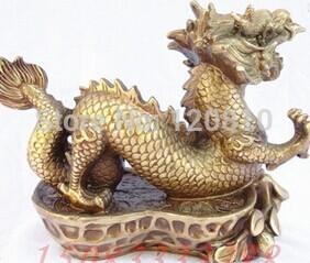 Чистая Бронзовая статуя медь дракон Бронзовые украшения арахиса повезло украшения ремесла