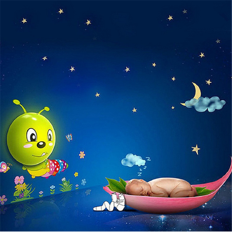 3D Wall Sticker Lamp Sensor LED Night Lights Cartoon DIY Cute Wallpapers Wall Lamp Baby Room Decoration Lighting(China (Mainland))