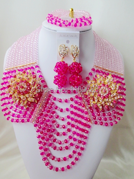 Preferred Special offer Nigerian Crystal Beads Women Fashion Beads Jewelry Set Wedding Bridal Jewelry Set Free Shipping A-11900<br><br>Aliexpress