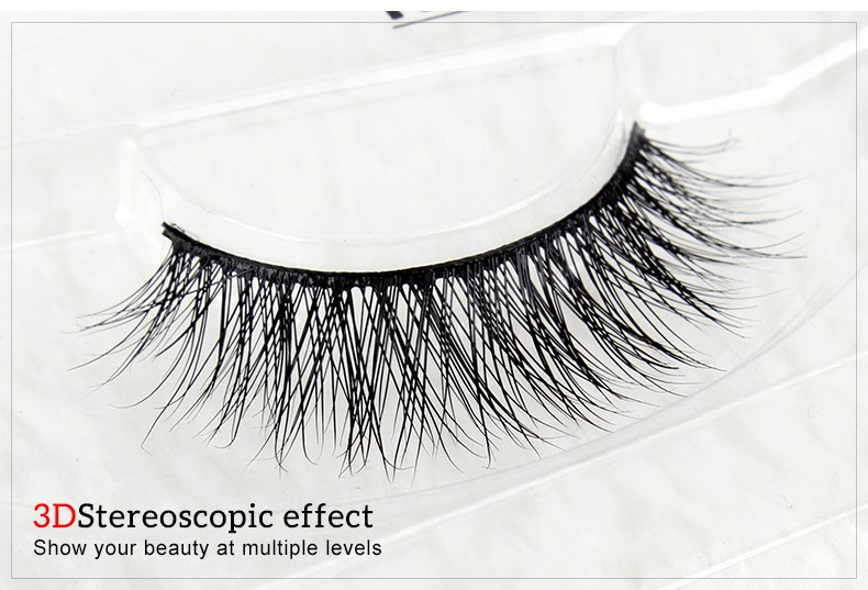 Wholesale 2016 New stlye Natural 3D 100% Real Mink False Eye Lashes Zy3dsd-34 Fake Eyelashes Extensions beautiful Makeup tool