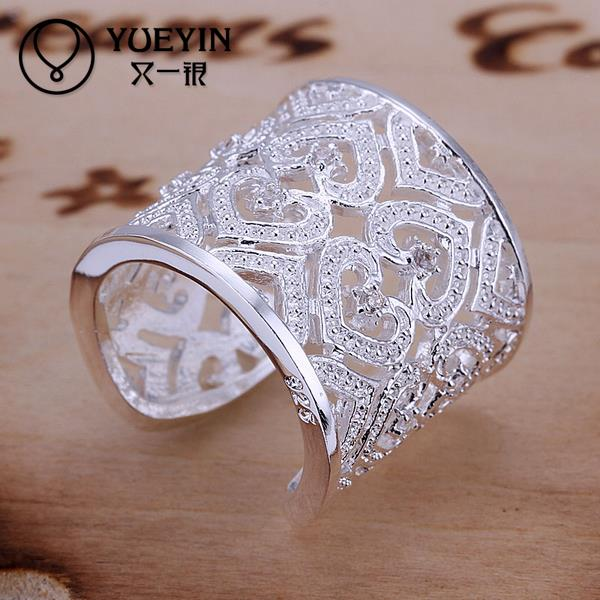 Promotion s Silver Jewelry Korean Elegant Heart s Silver Rings For Women, Wedding Engagement Ring For Couple(China (Mainland))