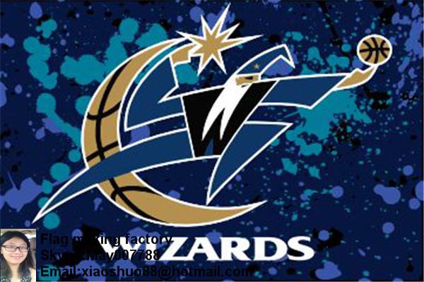 Free shipping 3'x5' Washington Wizards flag, 90x150cm Washington Wizards flags basketball banners(China (Mainland))