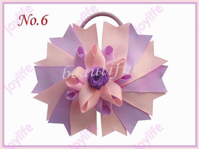 "free shipping 500pcs 4.5"" Novel Swallowtail Nest Hair Bows Elastic fashion girl baby hair bow holders(China (Mainland))"